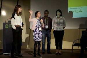 Youth Session: Enter the dragons' den – Youth to pitch ideas for sustainable landscapes at GLF 2015 in Paris. Photo: Pilar Valbuena