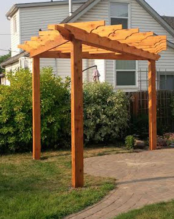 Triangle Pergola Forest Trek Woodwork