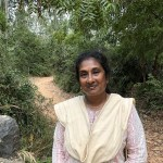Dr. Supraja Dharini, Founder and Chairperson, TREE Foundation, near the entrance of the Elephant Sanctuary