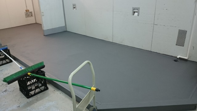 Epoxy Flooring. Catering Shop.