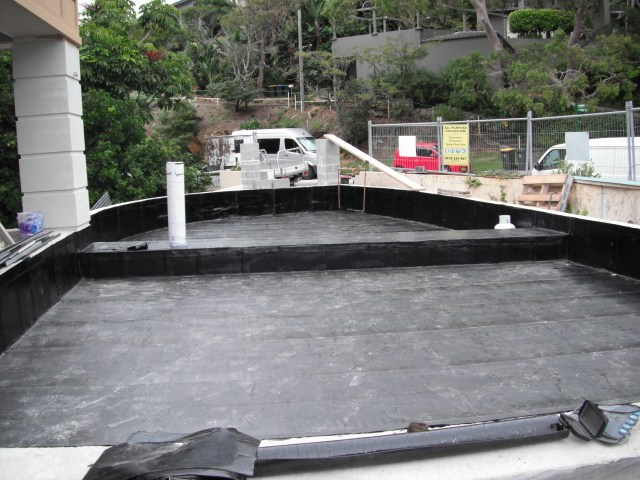 Torch On waterproofing Planter Boxes Mosman.
