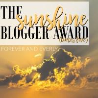 Tag Time: The Sunshine Blogger Award Times Five