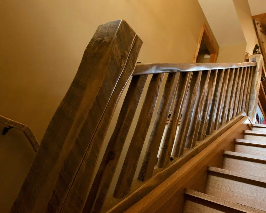 Barnwood Stair Systems In Wisconsin Forever Barnwood | Rustic Banisters And Railings | House | Pallet | Veranda | Farmhouse | Solid Wood