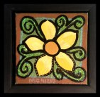 """Little Yellow Flower, 4x4"""", Mixed Media Paint, $26.00 - To purchase call Mitra 805-455-6004"""