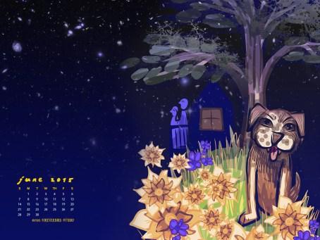 1280 × 960 June 2015 Calendar Art