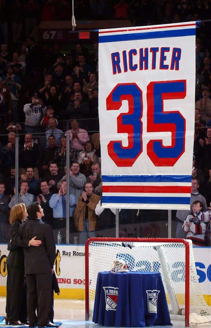Mike Richter Jersey Retirement (MSG)