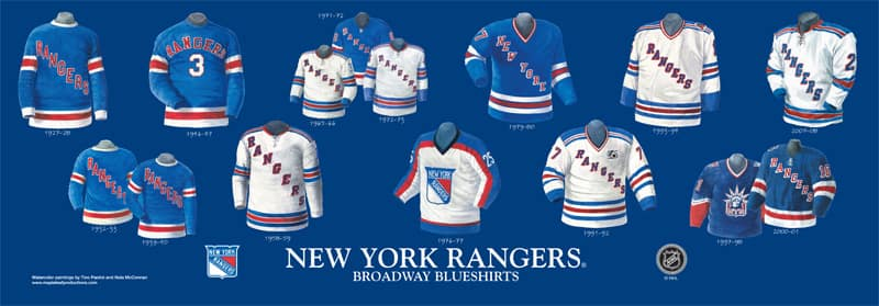 low priced 42499 c9500 The history and evolution of the Rangers jersey - FOREVER ...