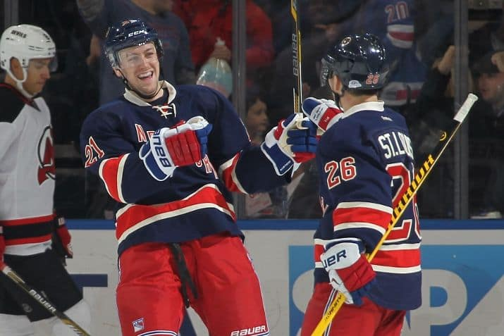 f92e58b27 Derek Stepan celebrates his 2nd of three with MSL 12.27.14 (Photo  Jared