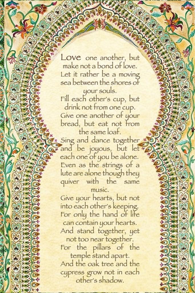kahlil gibran on love