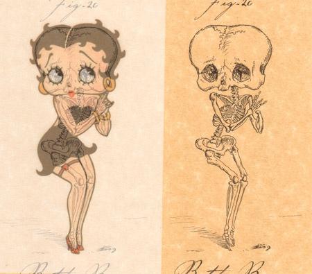 skeletal cartoon characters