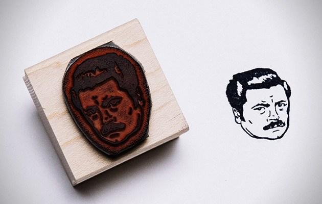 Stamp Yo Face - Ron Swanson