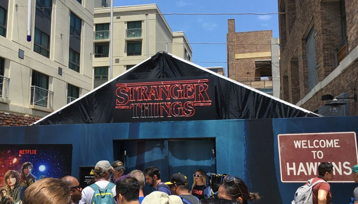SDCC 2017 - Stranger Things 2 tent
