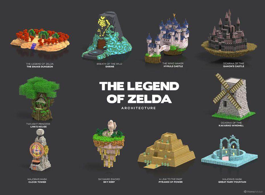 video game architecture zelda