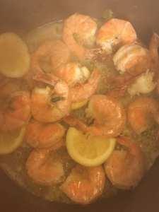 Forever Grateful 613 steamed lemon/green onions shrimp & cilantro/lime