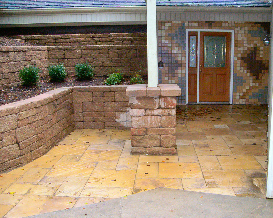 Retaining Walls - Landscaping Design   Forever Green ... on Green Wall Patio id=15837