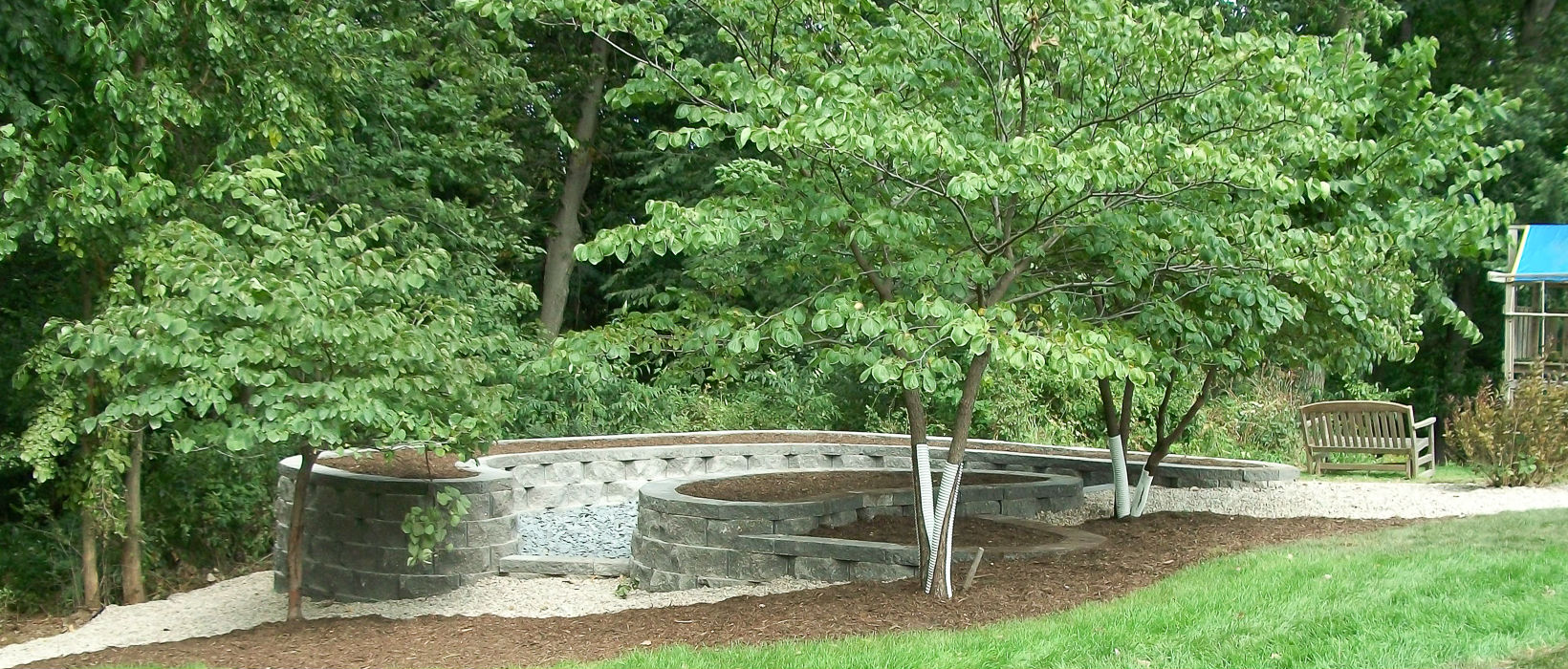 Retaining Walls - Landscaping Design   Forever Green ... on Green Wall Patio id=18814