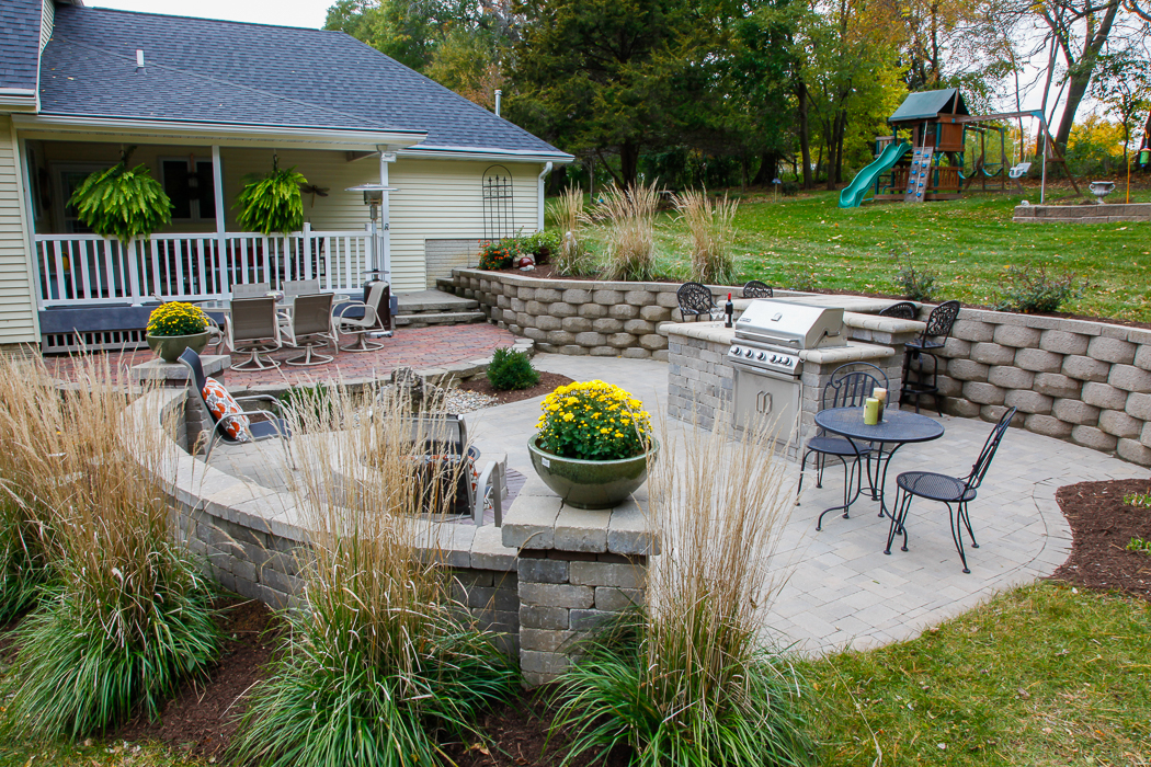 Outdoor Fire Pits - Landscaping Design | Forever Green ... on Backyard Patio With Firepit id=24762