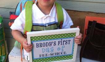 Wordless Weds. Brody's First Day of Preschool Photo