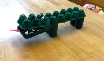 Egg Carton Alligator Craft for Toddlers/Preschoolers