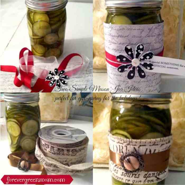 Simple Mason Jar Canned Food Decor for Gift-Giving