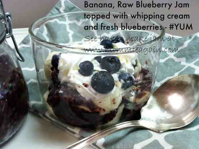 Raw Blueberry Jam - Only 3 Healthy Ingredients