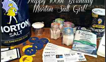 Happy 100th Birthday Morton Salt Girl + DIY: Sore Muscle Bath Soak