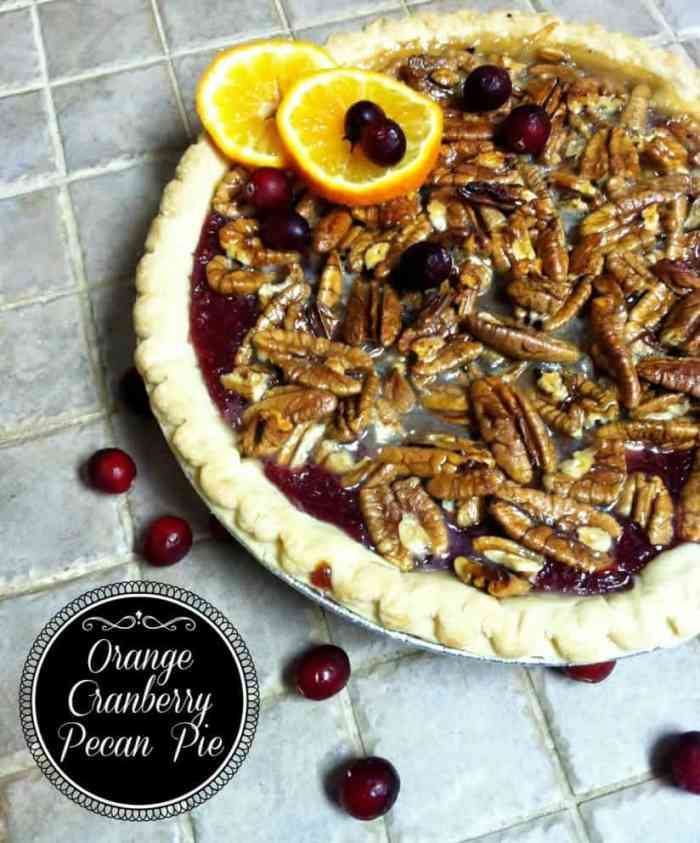 Orange-Cranberry Pecan Pie Recipe