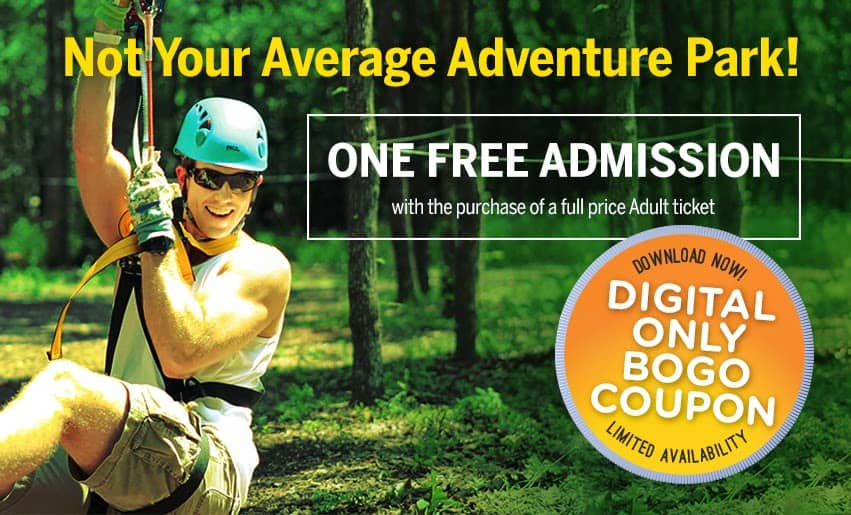 Trinity Forest Adventure Park BOGO Admission #Dallas #DFW