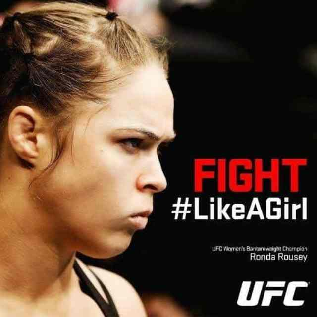 picture of a girl for UFC FIGHT #LikeAGirl Campaign