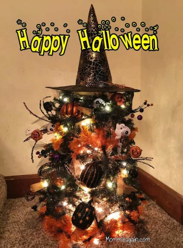 DIY Sparkly Halloween Tree