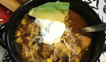 Chicken Taco Soup Slow Cooker Recipe