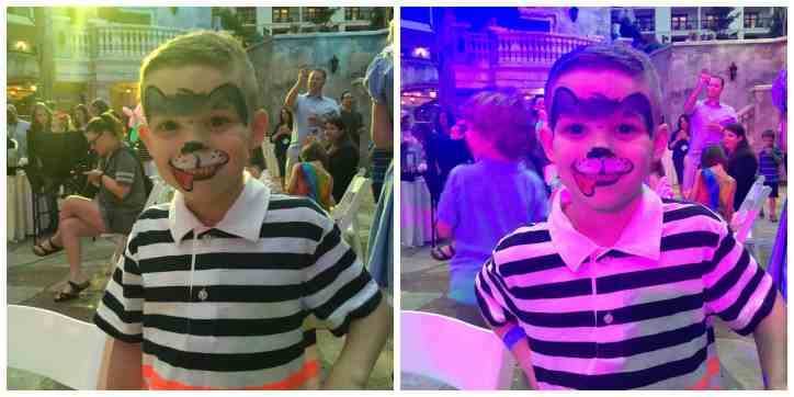 Gaylord_Texan_blogger_event_face_painting