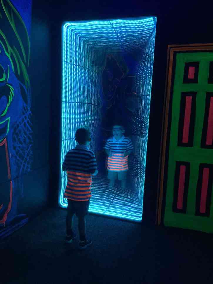 Inside the 4D Wonderland Adventure Maze at the Gaylord Texan