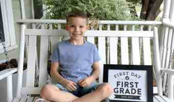 Back to School First Grade for Our Son