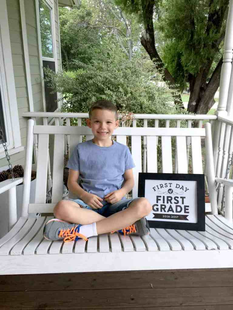 Back to School for Brody - First Grade...here I come!!