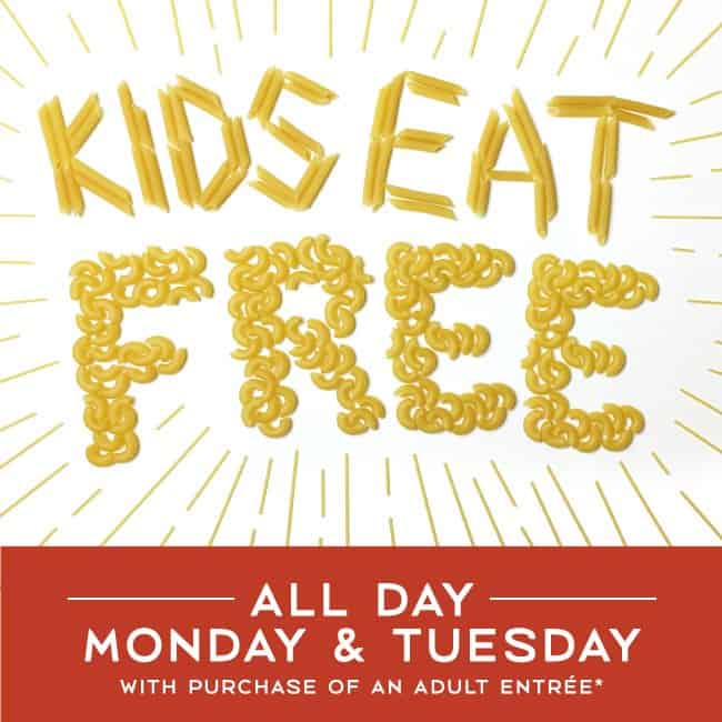 Kids Eat Free at Romano's Macaroni Grill