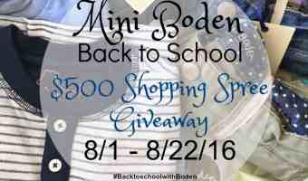 Fall Back Into School with Mini Boden + a $500 Shopping Spree Giveaway ENDED