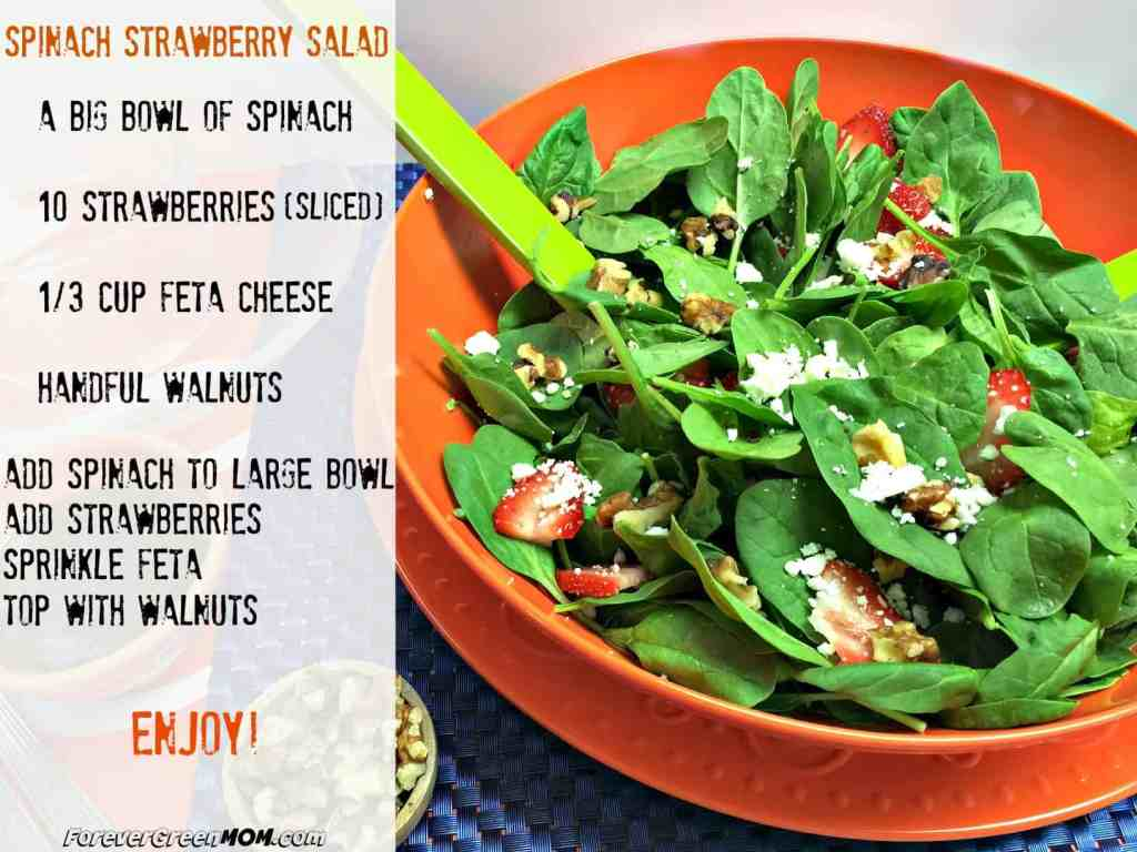 simple fresh spinach salad