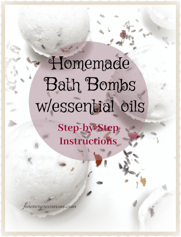 Step by Step Homemade Bath Bombs w/ Essential Oils