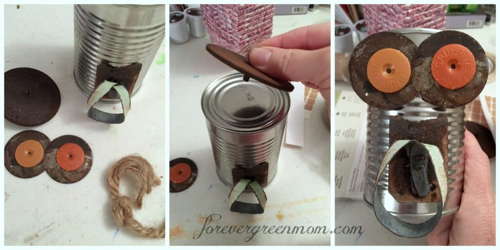 Recycled Tin Can Craft for Kids