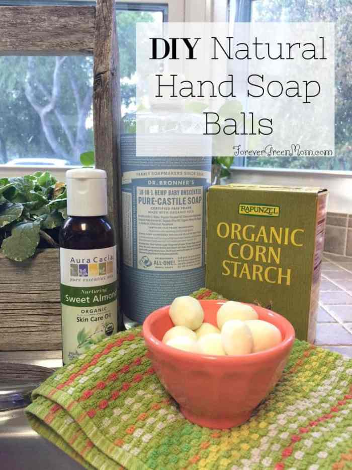 DIY Kid's Natural Hand Soap Balls