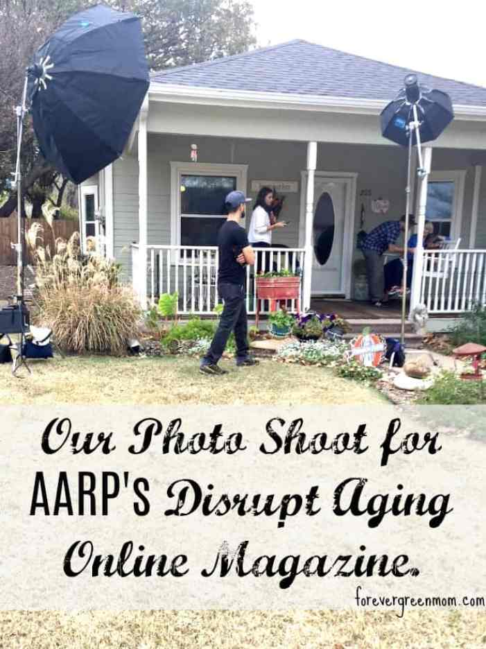 AARP Photo Shoot for Disrupt Aging Online Magazine