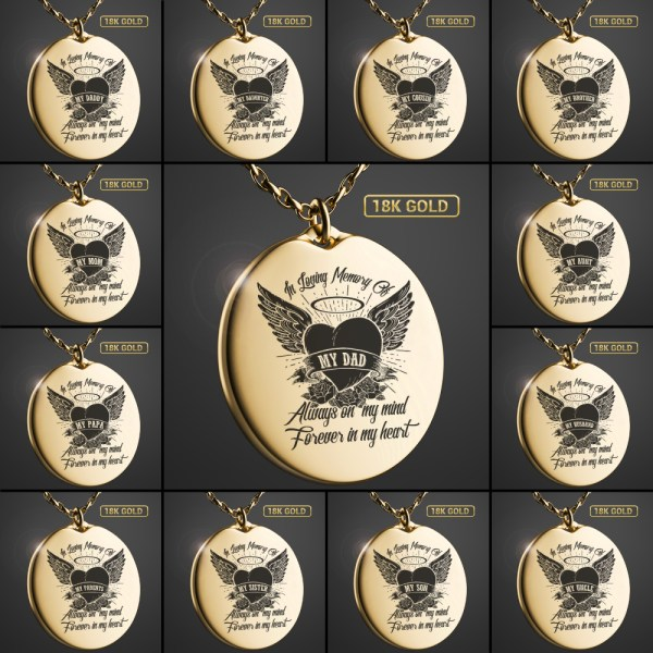 [Memorial Necklace] Memorial Gifts for Loss of Loved One in Heaven