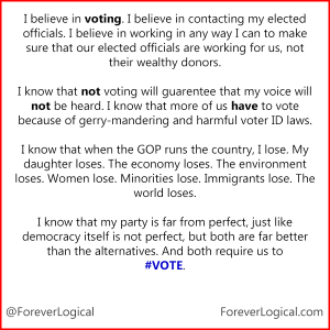 I believe in voting...