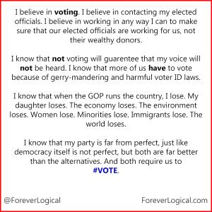 I believe in voting...