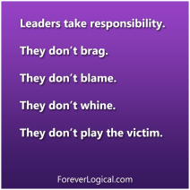 Leaders take responsibility