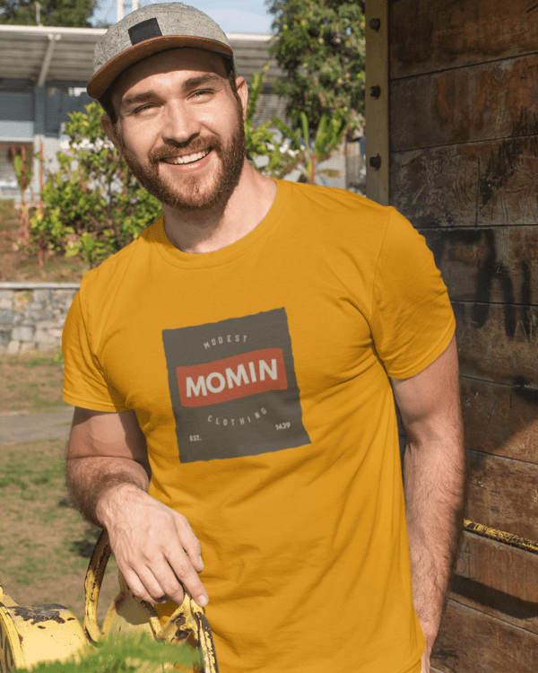 t shirt mockup featuring a smiling man with a beard at the park 28197