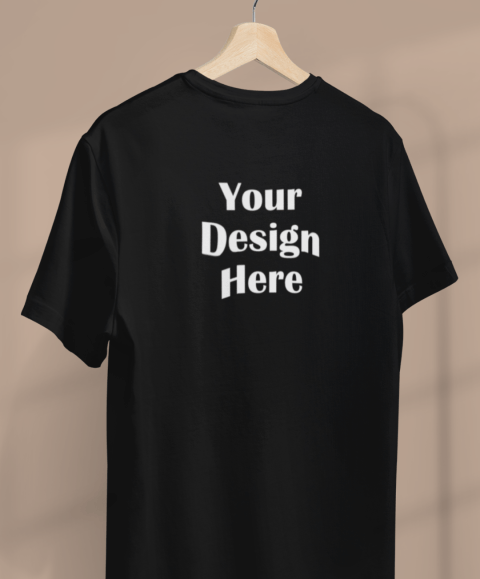 minimal apparel mockup featuring a customizable t shirt hanging from a clothing rack 3733 el111