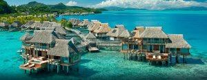 beach huts-bora bora-paradise-travel