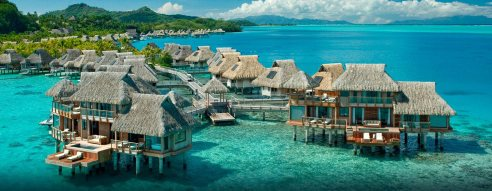 beach huts-bora bora-paradise-travel